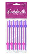 Cannucce bachelorette party favors mini cock-tail straws