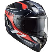 CASCO INTEGRALE LS2 FF327 CHALLENGER CT2 GRID BLUE CARBON RE Taglia XL