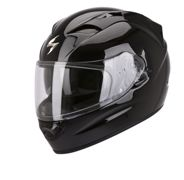 Casco integrale Scorpion Exo 1200 Air Solid in fibra nero lucido XXL