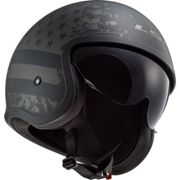 CASCO JET LS2 OF599 SPITFIRE BLACK FLAG Taglia L