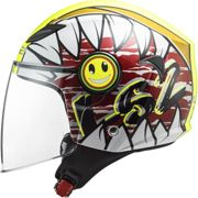 CASCO LS2 OF602 FUNNY CRUNCH WHITE H-V YELLOW Taglia M