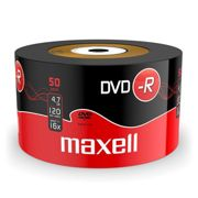 DVD-R Maxell 4,7GB Shrink 50 16X 120 Minuti Vergini Vuoti dvd -R Originali Box 275732