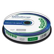 DVD-RW MediaRange Riscrivibili 4,7GB 120 Minuti Cake 4X Vergini Vuoti dvd -Rw Originali Box MR450