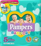 PAMPERS BABY DRY DOWNCOUNT NO FLASH JUNIOR 17 PEZZI