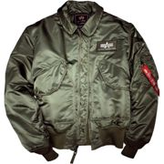 Giacche Bomber Alpha Industries CWU 45 Rep. sage verde L