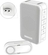 HONEY DC313SP2 - Radio gong for sockets with LED flash and bell button, white