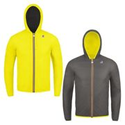 K-WAY Giacca JACQUES PLUS DOUBLE FLUO Uo M YELLOW FLUO-SMOKE