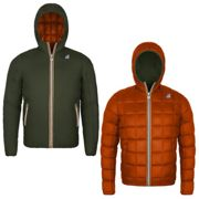 K-WAY Giacca JACQUES THERMO PLUS DOUBLE Reversibile - S - GREEN A-ORANGE P