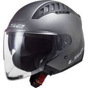 LS2 OF600 Copter Casco jet Solid Matt-Titanium M