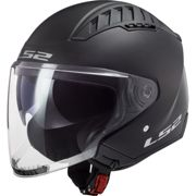 LS2 OF600 Copter Casco jet Solid nero opaco L