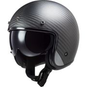 LS2 OF601 Bob C Casco jet Solid matt-carbon XL