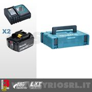 MAKITA KIT ENERGY LI-ION 18 V COMPOSTO DA: 2 BATTERIE + DC18RC + MAKPAC