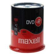Maxell 100 DVD-R 16x 4.7GB Spindle - 275611.40.IN