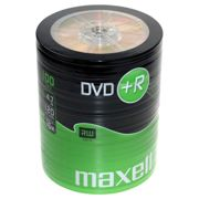 Maxell DVD+R 4,7GB Shrink 16X 120 Minuti Vergini Vuoti dvd +R Originali Box 275737 conf 100