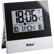 Mebus 41787 Radio Controlled Wall Clock One Size Silver / Black