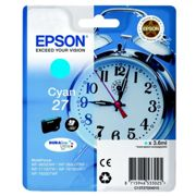 Originale Epson WorkForce WF-3620 WF Cartuccia d'inchiostro (27 / C 13 T 27024012) ciano, 300 pagine, 3,0 cent per pagina, Contenuto: 3 ml