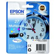 Originale Epson WorkForce WF-7110 DTW Cartuccia d'inchiostro (27 / C 13 T 27054012) multicolor Multipack (3 pz.), Contenuto: 3x350pg3x3,6ml