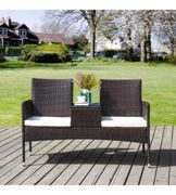 """PANCHINA """"BENCH LOVERS"""" IN PE RATTAN COLORE ANTRACITE"""