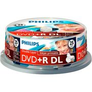 Philips 25 Dvd+r 8.5gb Dl 8x Iw Sp One Size Clear