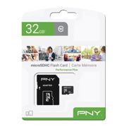 Pny Microsd 32gb Class 10 With Adapter One Size Black