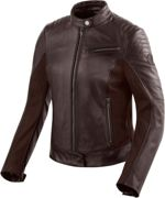 Revit Clare Giubbotto moto in pelle Ladies, marrone, taglia 38 per donne
