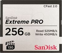SDCFSP-256G-G46D - CFast Memory Card 256 GB, Extreme Pro, 2.0 VPG130