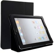 Smart Case per Apple iPad 2 / iPad 3 / iPad 4 (Wake / Sleep), Similpelle, nero Custodia