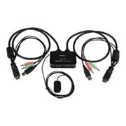 Switch kvm Startech.com switch kvm cavo hdmi usb 2 porte con audio e switch remoto sv211hd