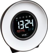 TFA 60202302 - Light alarm clock with natural sounds and color change