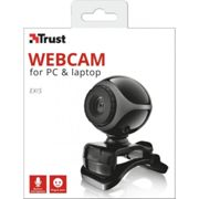 Trust Exis webcam 0,3 MP 640 x 480 Pixel USB 2.0 Nero