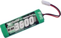 XR6 3600 - Confezione batterie, NiMh, 7,2 V, 3600 mAh, 6 celle, Tamiya